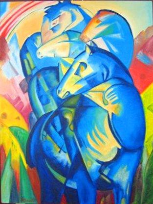 die blauen pferde
